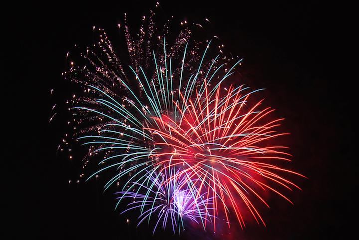 諏訪湖祭の湖上花火大会