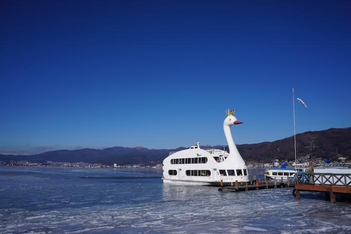 冬の遊覧船